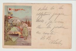 """CPA / Cie.TRANSATLANTIQUE """" PLM"""" :/ 1908 - Paquebots"""