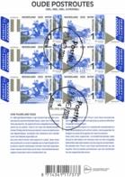 Nederland - 2020 - Velletje Oude Postroutes - Internationaal - Echt Gebruikt - Oblitérés