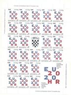 CROATIA 2020,CROATIAN PRESIDENCY OF THE COUNCIL OF THE EUROPEAN UNION,VIGNETTE,MNH - Croacia