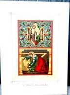 IMAGES PIEUSES SANTINI SAINTE MARIE MAGDALENA PENINENTE CHROMOLITHOGRAPHIE 11 X 15 CM - Religion & Esotericism