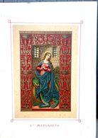 IMAGES PIEUSES SANTINI SAINTE MARGARETA ET LE DRAGON FEMME ENCEINTE CHROMOLITHOGRAPHIE 11 X 15 CM - Religion & Esotericism