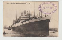 """CPA /  PAQUEBOT """" CUBA """" DE LA Cie.GENERALE TRANSATLANTIQUE / 1923 / ST.NAZAIRE - Paquebots"""