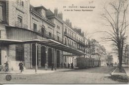 REF1297/ France Dijon Boulevard De Sévigné Et Gare Des Tamways Départementaux Animée MINT - Dijon