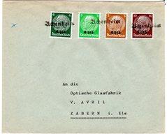 Dt. Besetzung Elsaß; Fernbrief Mit Notstempel  - Besetzungen 1938-45