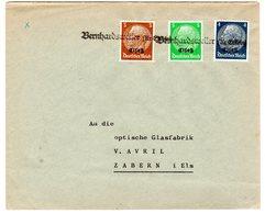 "Dt. Besetzung Elsaß; Fernbrief Mit Notstempel ""Bernhardsweiler"" - Besetzungen 1938-45"