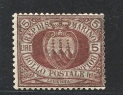 SAN MARINO 1892 CIFRA   5 L. ** MNH - Saint-Marin