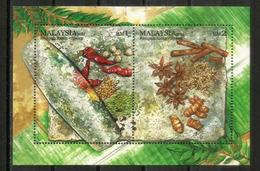 MALAISIE.  Les Epices De Malaisie.  Bloc-feuillet Neuf ** (Cannelle & Badiane), Année 2010 - Alimentazione
