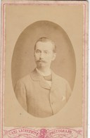 ALLEMAGNE .CLEVE. PHOTO SUR CARTON. PORTRAIT HOMME. PHOTO F.C LACHENWITZ. FORMAT 6.5 X 10.5 CM - Old (before 1900)