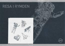 Mi 2714-18 Proof Épreuve Blackprint Schwarzdruck / 1st Swedish Astronaut Christer Fuglesang - Space, Cosmos, Scientist - Proofs & Reprints