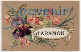 Cpa Gard - Souvenir D'Aramon ( Fantaisie Fleurs ), Pli D'angle - Aramon