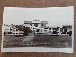 Aéroport Le Bourget-Dugny  Départ Pour Berlin Avion Junkers JU52. Superbe - Aeronáutica - Aeropuerto