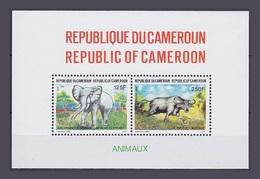 Cameroun 1991 Yvert Bloc 28 ** Animaux Animals Elephant Buffle - Kameroen (1960-...)
