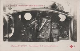 AK Les Locomotives Francaises Etat C 197 Locomotive Machine No 230 345 Interieur Chemin De Fer Train - Trenes