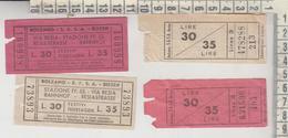 Biglietto Ticket Buillet Bolzano Stazione F.s. Via Resia Rovereto Bahnhof Bus Autobus 1956 - Bus