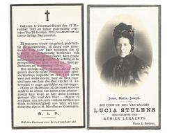 D 976. LUCIA STULENS Echtg. R. Lenaerts - °VLIERMAEL-ROODT 1833  En Aldaar + 1918 - Images Religieuses