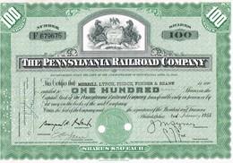 - Certificat De Valeurs Américaines - The Pennsylvania Railroad Company - Titre De 1955 - Chemin De Fer & Tramway