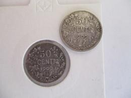 Belgique 2 X 50 Centimes 1909 (français Et Flamand) - 1865-1909: Leopoldo II