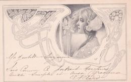 Jugendstil  ,  Profilo Di Ragazza  -  Ediz.  M. M. VIENNE - Illustrators & Photographers