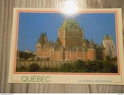 AMERIQUE -CANADA -  QUEBEC- L'imposant Chateau FRONTENAC Sis Sur Les Hauteurs Du Cap Diamant - Québec - Château Frontenac