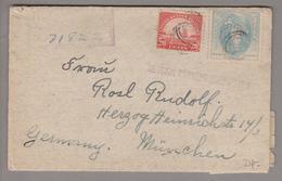 USA 1937-09-12 Milwaukee R-Zollkontroll-Brief Mit 20+5 Cents Nach München - United States