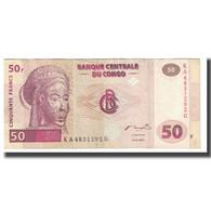 Billet, Congo Democratic Republic, 50 Francs, 2000, 2000-01-04, KM:97a, TTB - Congo