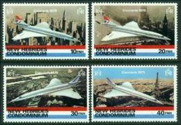"-New Hebrides-1978-""Concord Plane"" MH (*) - English Legend"