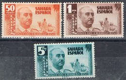 Serie Completa SAHARA, Colonia Española 1951, Visita Franco, Num 88-90 * - Sahara Spagnolo