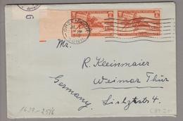 USA 1940-07-01 Greenwich Zensurbrief Nach Weimar DE - United States