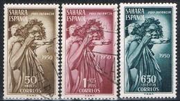 Serie Completa SAHARA, Colonia Española 1950, Pro Indigenas, Num 83-85 * - Spanish Sahara