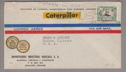 SA Ecuador 1954-08-04 Guayaquil Illustrierter Firmenbrief Nach Moline Illinois USA - Ecuador