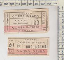 Biglietto Ticket Buillet Napoli A T A N Lire 20 Corsa Intera + Lire 30 - Bus