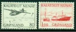 "-Greenland-1971- ""Plane & Ship""  MNH ** - Groenlandia"