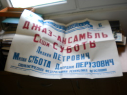 Ols Poster Russia Koncertni Zal Dzaz Ansambl Sasi Subotic Lilian Petrovic, Big Format 83x60 - Afiches