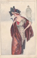 CPA Femme Lady Glamour Women Mode Chapeau Illustrateur MAUZAN N° 414 - 5  (2 Scans) - Mauzan, L.A.