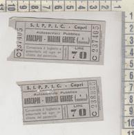 Biglietto S.i.p.p.i.c. Lotto Capri - Anacapri / Marina Grande Lire 70 - Bus