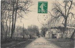 91 - DRAVEIL Forêt De Sénart Route Allant à L'Ermitage Animée écrite Timbrée - Draveil