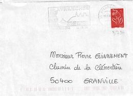 TP N° 3734 Seul Sur Enveloppe De Avranches - 1961-....