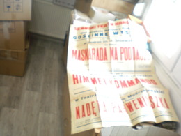 Old Poster Plakat Serbski Teatr Narodowy Maskarada Na Poddaszu, Himmel Kommando, Nadeta Parweniuszka, Big Format 70x100 - Afiches