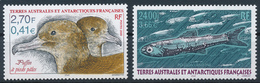 TAAF  -  2000  ,  Blassfusssturmtaucher , Laternenfisch - Terre Australi E Antartiche Francesi (TAAF)