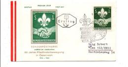 AUTRICHE LETTRE FDC 1962 SCOUTISME - FDC