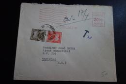 Lettre D'Objat Pour Toulouse Taxé - Poststempel (Briefe)