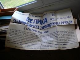 Old Poster Plakat Stadion FK Vojvodina, Velika Zabavno Sportska Humoristicka Revija, Boks Klub Vojvodina, FK Vojvodina - Afiches