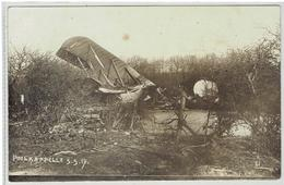 POELKAPELLE - Abgeschossene Engl.Flugzeug 5-5-1917 - Carte Photo - Langemark-Poelkapelle