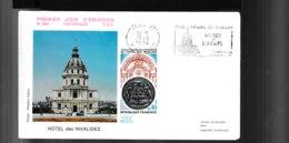 1801  F.D.C  Paris 15 06 1974 Tricentenaire De La  Fondation De L'hôtel Des Invalides  2059A - Poststempel (Briefe)