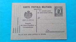 Romania Rumanie Carte Postala Militara - Rumania