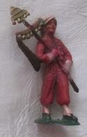 Figurine Militaire Starlux Spahi Tirailleur Porte Fanions - Starlux