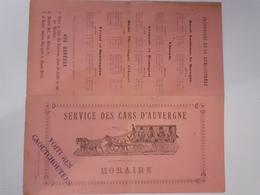 Horaire Des Services Des Cars D'Auvergne , Voitures Caoutchouteuse (Michelin?) Aydat Clermont Ferrand - Europe