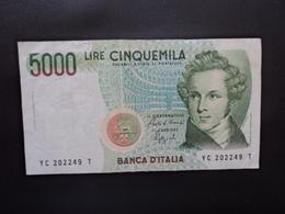 ITALIE : 5000 LIRE    10.09.1992    CI 76 BS 542 / P 111b      TTB - [ 2] 1946-… : République