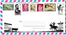 Souvenir Philatélique D'Espagne (N° 120) - La Tauromachie à Cheval (Recto-Intérieur-Verso) - 1931-Hoy: 2ª República - ... Juan Carlos I
