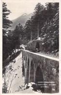 CHEMIN De FER à CREMAILLIERE ( Funiculaire ) - 31 LUCHON SUPERBAGNERES Train Sur Le Viaduc - CPSM Photo Format CPA 1935 - Funiculaires